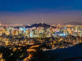 vista de la ciudad de seúl, corea del sur foto