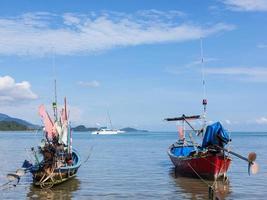 Traditional Thai boats photo