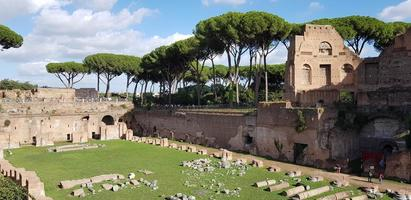 Ancient ruins in Rome, Italy photo