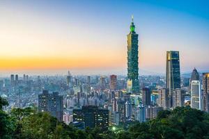 paisaje urbano de taipei, taiwán