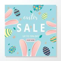 Social media post easter day template vector