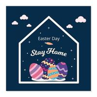 Happy easter stay at home