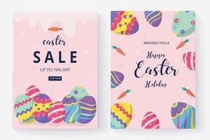 Happy easter day background and social media post vector