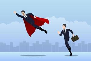 Business people compete in a career path with different abilities vector