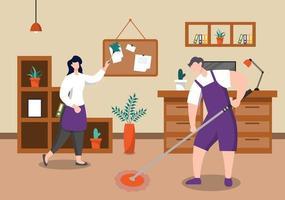 concepto de servicio de limpieza vector