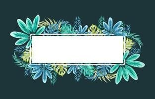 Beautiful Elegant Tropical Leaves Frame vector