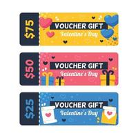 Colorful Flat Valentine's Day Voucher Gift vector