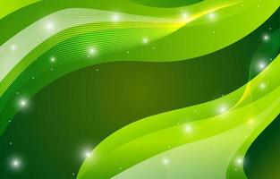 Abstract Green Background with Beautiful Wave vector