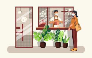 Takeaway Coffee Shop Concept vector