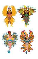 Rio Festival Costume Icon Concept vector
