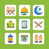 Eid Mubarak Icon Collection vector