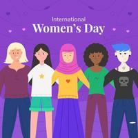 concepto del día internacional de la mujer vector