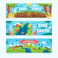 Earth Day Awareness Banner vector