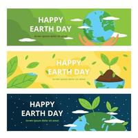 Earth Day Banner Template vector