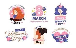 Happy Women's Day Sticker vector