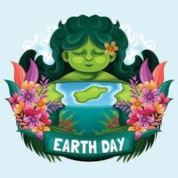 Happy Mother Earth Day Concept vector