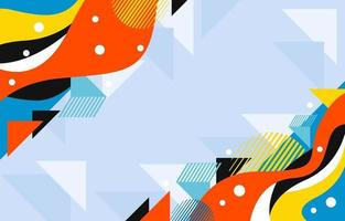 Colorful Wavy and Triangle vector
