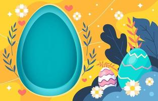 Finding Easter Eggs Background vector