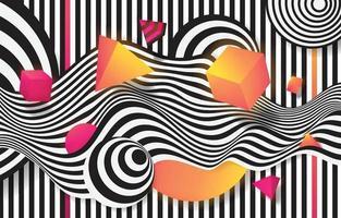 Futuristic Retro Wave Background vector