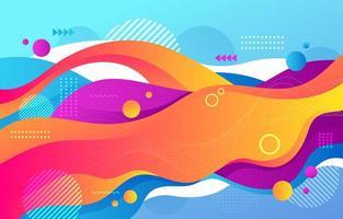 Fondo de formas abstractas de colores vector