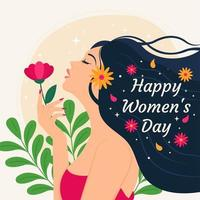diseño feliz del día de la mujer vector