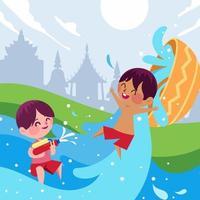 Water Splashing Festival At Thailand