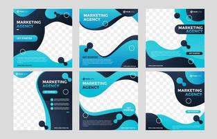 publicación de redes sociales de negocios de agencia de marketing vector