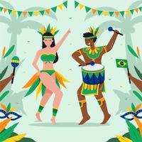 Rio De Janeiro Brazilian Festival vector