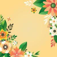 fondo floral de primavera vector