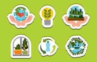 World Earth Day Sticker vector