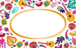 Cinco De Mayo with Colorful Ornaments vector