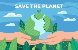 salvar el concepto de la tierra vector