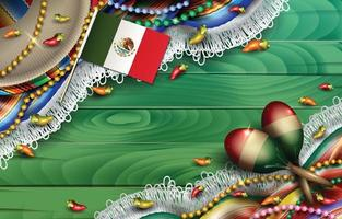 Cinco de Mayo Mexico Background vector