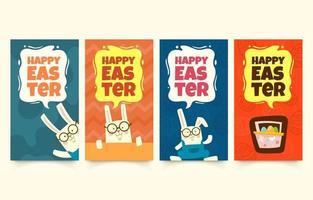 Easter Social Media Stories vector