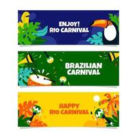 Rio Carnival with Colorful Banner vector