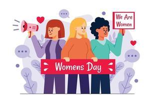 International Womens Day Concept vector