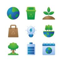 Ecology Icons Collection vector