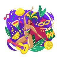 Rio Carnival Parade Concept vector