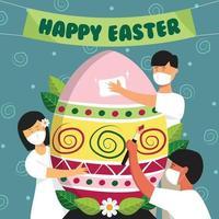 Preparing for Easter Celebration vector