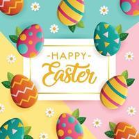 Easter Egg Greeting Card vector