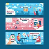 UNTACT Contactless Technology Banner vector