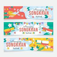 Amazing Songkran Festival Banner vector