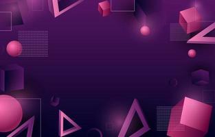 3D Retro Futurism Background vector
