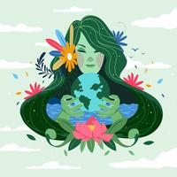 Mother of Nature Concept vector