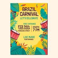 Poster Template for Brazil Carnival vector