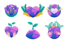 Earth's Day Sticker Pack vector