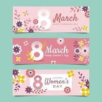 Happy Women's Day Banner Set vector