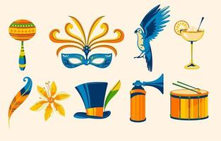 Collection of Brazilian Festival Icon vector