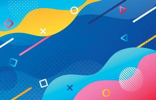 Abstract Smooth Wave Colourful Background vector