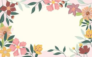 Spring Background with Beautiful Colorful Flower vector